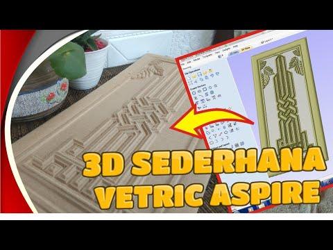 Download Video TIPS CEPAT, MEMBUAT FILE 3D DI ASPIRE VETRIC (How To Create 3D File on Vetric Aspire)