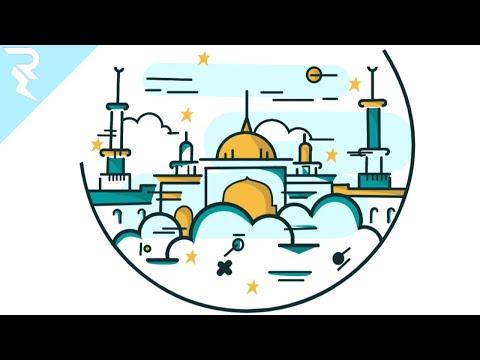 Download Video Tutorial vektor masjid dengan infinite design | Masjid islamic center indramayu