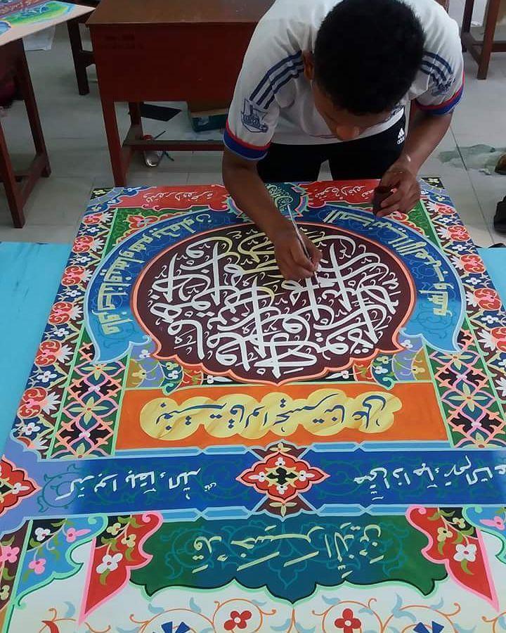 Works Calligraphy Taufik Hasibuan Kenangan manis…. … 114