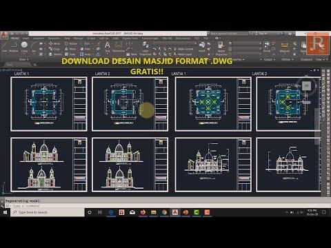 Download Video Download Desain Masjid Format (.DWG) GRATIS!!!
