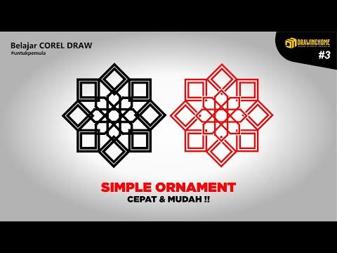 Download Video How to make Simple Islamic Ornaments || Cara Cepat buat ornament di CorelDraw