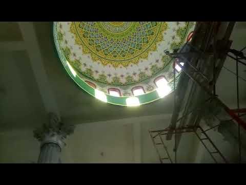 Download Video KALIGRAFI ASMA'UL HUSNA di dekorasi interior kubah masjid miftahul jannah