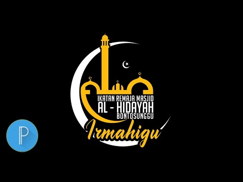 Download Video Membuat logo ikatan remaja masjid | Pixellab Tutorial