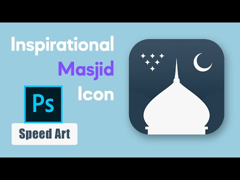 Download Video Mosque Flat Icon Concept Design | Islamic Modern App Icon – Photoshop