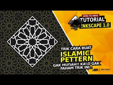 Download Video Trik membuat pola islami dengan Inkscape/how to make islamic pettern using inkscape