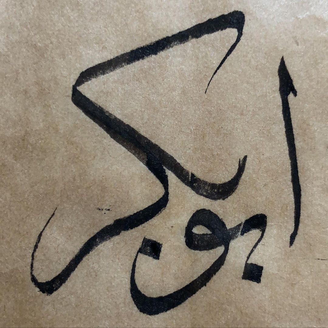 Thuluth Arabic Calligraphy Omeryildizbursa 1.2 mm. Meşk #sülüs #sulus #sülüshattı… 374