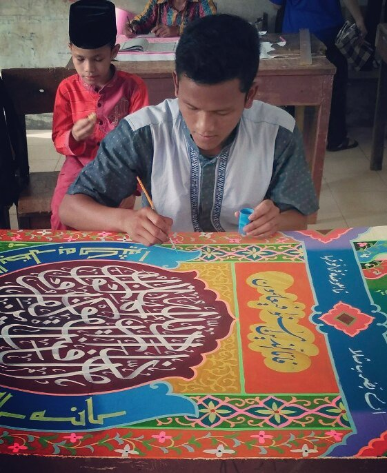 Works Calligraphy Taufik Hasibuan Lg serius… Hehehe… 52