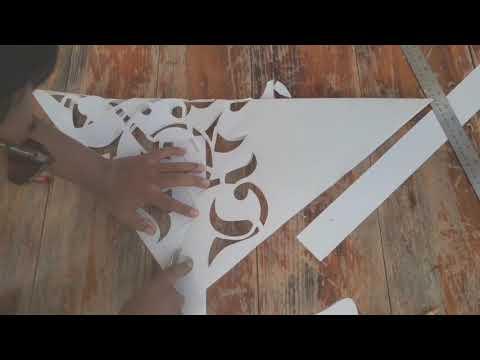 Download Video Belajar Kaligrafi (Cara Mudah Membuat Mal Ornamen Kaligrafi di Tembok)