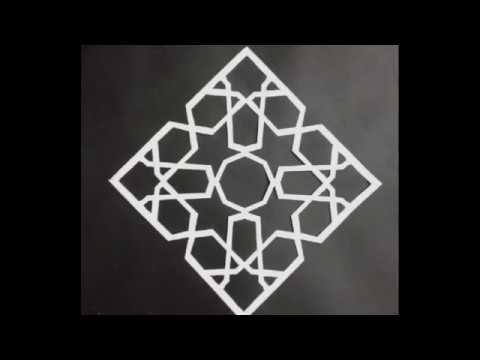 Download Video How to draw islamic geometric patterns / paper crafts