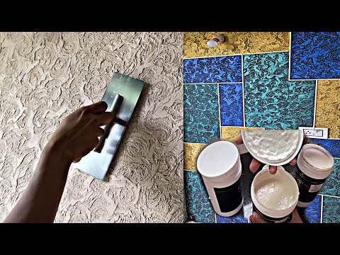 Download Video New  interior wall texture putty design with transparant colouring|jotun paints and macoAvell