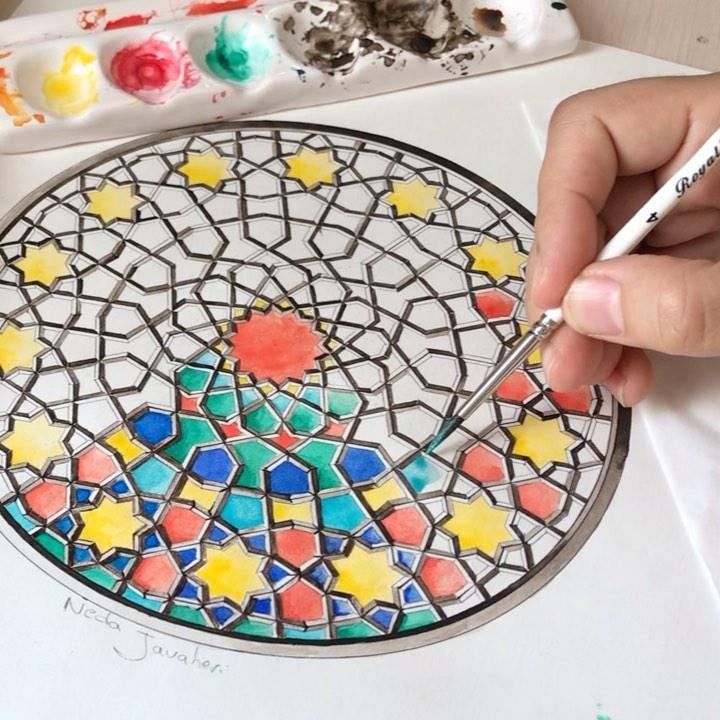 Karya Kaligrafi  . . قطعهٔ گمان...آهنگساز و نوازنده:مسعود سجادی  . . خلق شیشه های رنگی پنجره......- Ne Javaher 1