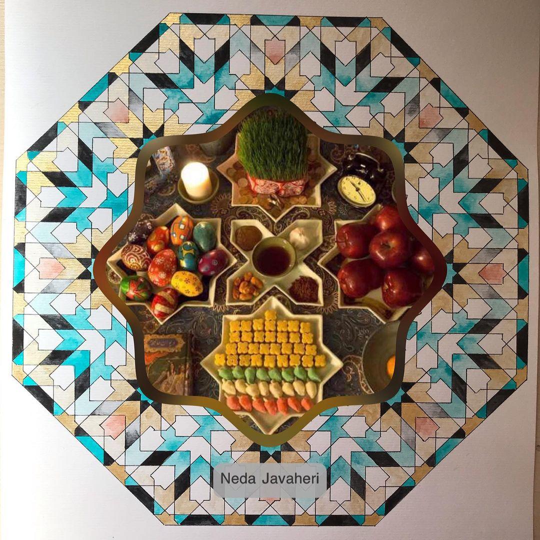 Karya Kaligrafi #persiannewyear  بهار اتفاقی نیست که در تقویم ها بیفتد و روی کاغذ. بهار ماجرایی …- Ne Javaher
