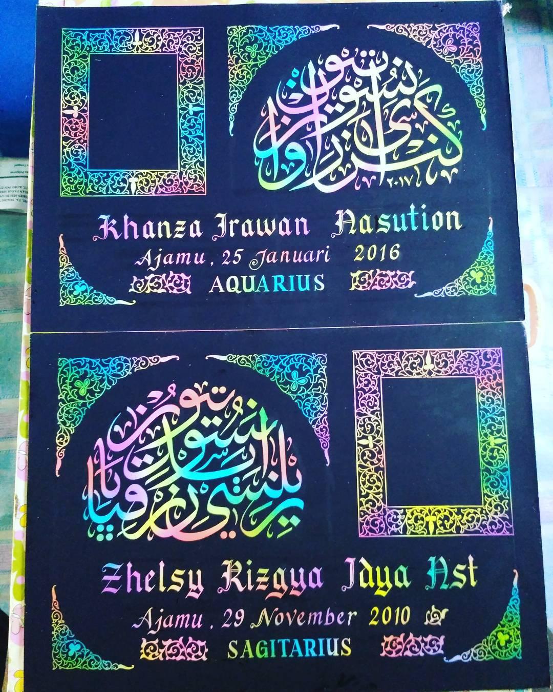 Works Calligraphy Taufik Hasibuan Open order… Minat chat me…. … 33