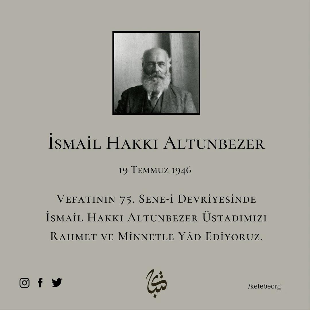 Apk Website For Arabic Calligraphy Vefatının 75. sene-i devriyesinde İsmail Hakkı Altunbezer Üstadımızı rahmet ve m… 324