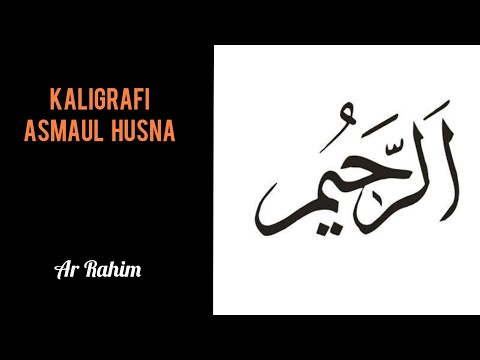 Download Video Kaligrafi Asmaul Husna|| menulis kaligrafi Ar Rahim untuk pemula #kaligrafiAsmaulHusna