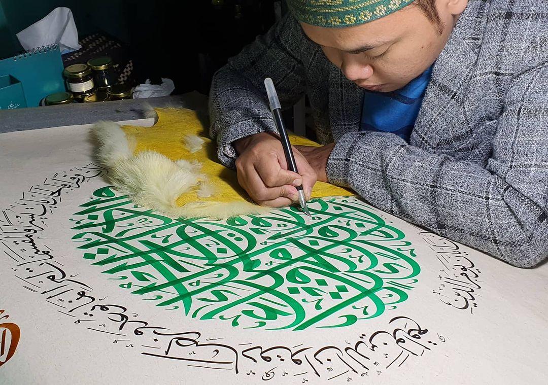 Karya Kaligrafi Finishing…- Huda Purnawadi –  karya kaligrafi kompetisi Waraq Muqohhar