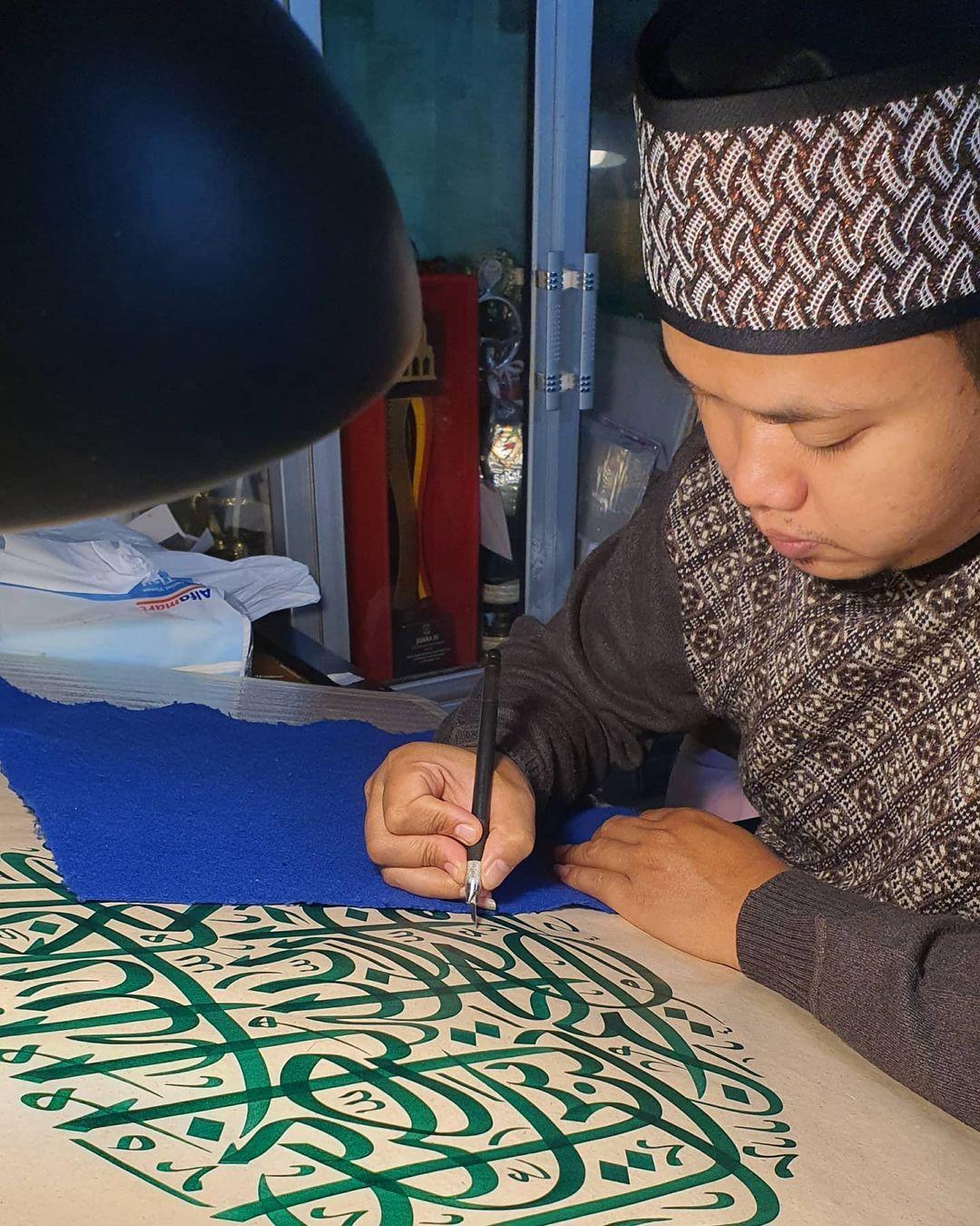 Karya Kaligrafi UAE 2020…- Huda Purnawadi –  karya kaligrafi kompetisi Waraq Muqohhar