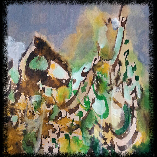 khat/hat/kat Tsulust/Thuluth Mothana Alobaydi #islamic #art #arabic #calligraphy #art #design #abstract #abstractart #modern #… 99