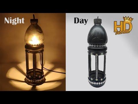 Download Video DIY – Mengubah botol bekas menjadi tempat lampu hias yang sangat cantik || bottle craft ideas