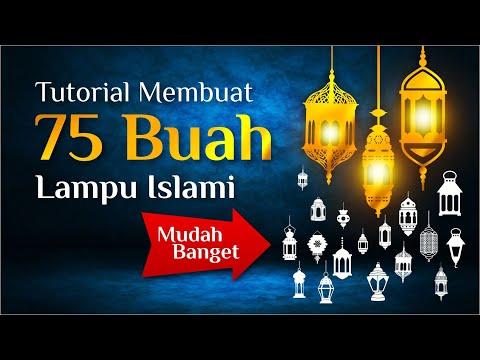 Download Video Tutorial membuat Lampu Lentera Islami – Coreldraw #edukasigrafis