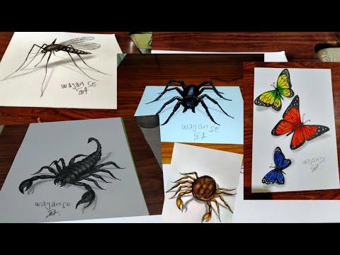 Download Video 4 gambar 3D serangga keren dan unik
