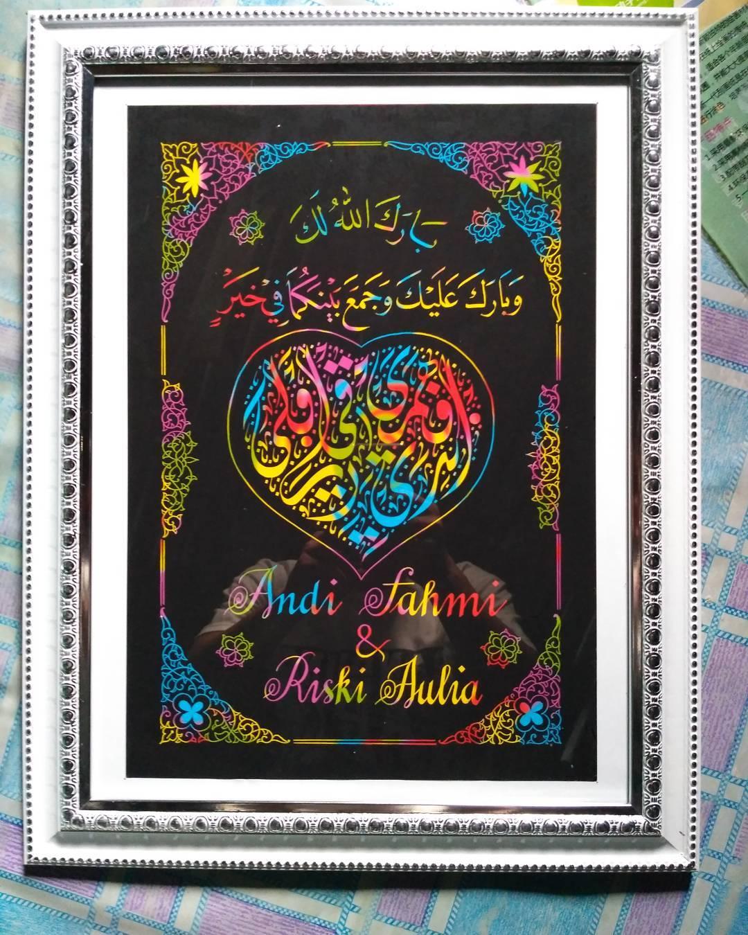 Works Calligraphy Taufik Hasibuan Kado untuk nikahan.. Minat silahkan inbox ya… … 26
